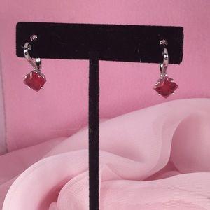 SILVER & ROSE PINK EARRINGS